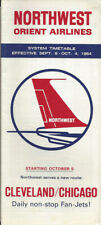 Northwest Orient Airlines system timetable 9/8/64 [0051]