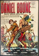 EXPLOITS OF DANIEL BOONE QUALITY 1955 #1 TO 6 COMPLETE SET! FRONTIER ADVENTURE