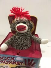Schilling Sock Monkey Jack-In-The-Box  Tin Lithography