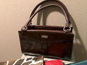 Miche Classic Base Bag with Rolled Handles Brown Purse + 4 Shell Very Good Cond
