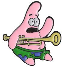 Pin Spongebob Squarepants Trombone Patrick Enamel Brooch Jewelry Gift New 2019