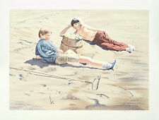 """William Nelson - """"The Beach Combers"""" Limited Edition Serigraph, Numbered"""
