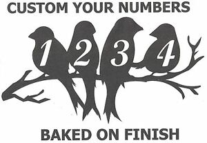 Birds House Number Address Metal Sign, Metal Art, Handmade, Any Numbers