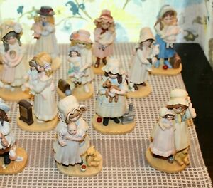 HUGE LOT! Vintage 20 JAN HAGARA Bisque Figurines LITTLE GIRLS & DOLLS