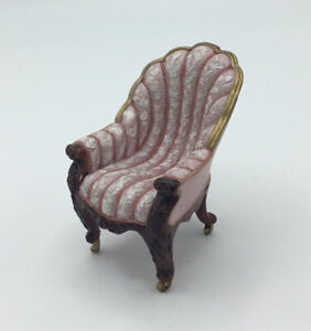 Dolls House  Resin Pink Chair