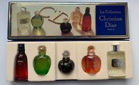 Christian dior la collection SET 5X miniature DUNE FAHREHEIT POISON EAU SAUVAGE