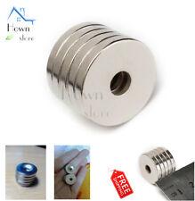 Neodymium Iron Boron N50 Countersunk Magnet Ring Disc Rare Earth NIB NEO 5pc