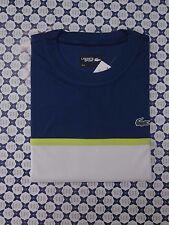 Polo Lacoste Uomo Ultra Dry con inserto centrale -- Bluette Bianco -- TH2097