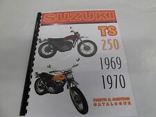Suzuki TS250 Savage   parts & service combo  manual  1969-1970