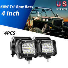 Nilight 4x 4 inch LED Work Light Bar Spot Flood Combo Beam Offroad Driving Lamps