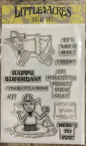 Do Whatever Floats Your Goat generic Clear Stamps- Funny Birthday Sentiment