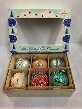 "Vintage Max Eckhardt 3"" Glass Christmas Tree Ornaments 6 Pack AllHollidays.com"
