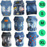 Pet Dog Clothes Puppy Dog Cat Denim Vest Jean Jacket Various Denim Coat Apparel