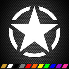 """2 US Army Star 20"""" x 20"""" Hood Jeep Choose Colors Truck Military Decal Sticker"""