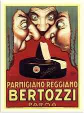 Metal Sign 1116 Bertozzi Parmigiano Cheese Luciano Mauzan 1 1925 A3 16x12