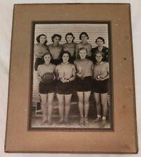 "1938 Womens Basketball Photo - 4 1/2"" X 6 1/2"" Mounted  on 7 1/4"" X 9 1/4"" Board"