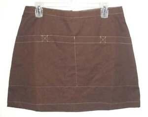 ID by LANDAU Skapron sz S ROXI Mini Skirt / Apron Pockets Brown Uniform NEW