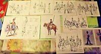 Carnet avec 10 planches de la Sabretache Histoire Militaire 1975 cavalerie