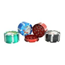 Assorted 3 Part Poker Chip Herb Grinder 50mm
