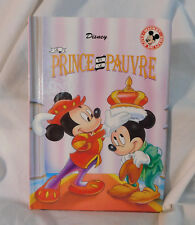 Prince & Pauper Pauvre French Disney Picture Book HC Club Mickey 1993 44 pp Cute