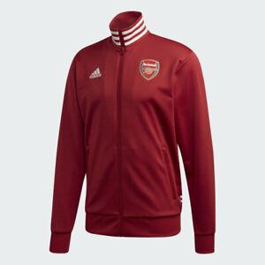 Mens Arsenal Track Jacket Adidas 2019-2020 3 Stripe EH5623 Size XS Active Maroon