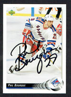 Phil Bourque #452 signed autograph auto 1992-93 Upper Deck Hockey Card