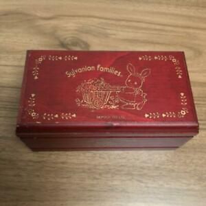 Vintage Sylvanian Families Rare Wood Music Box Working EPOCH Red