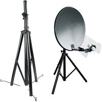 3 legged Tripod For Satellite Dish -Sky Freesat- Stand Bracket -Caravan Camping