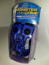 NEW  PS2 DUAL BLUE LED MONSTER CONTROLLER EXTENSION CABLES FOR PLAYSTATION 2