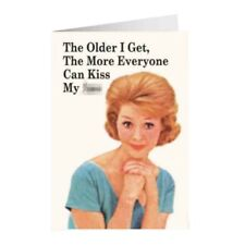 """Retro Humour """"The Older I Get"""" Greetings Card Birthday Gift Occasion Funny"""