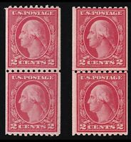US Scott 488 Pair and 488 Joint Line Pair Mint NH OG Cat Val $ 107.50 Lot W098