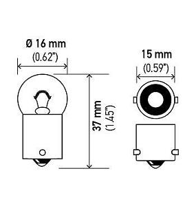 For Plymouth Colt  Volvo 242  244  245  Lada Niva Front Courtesy Light Bulb 67
