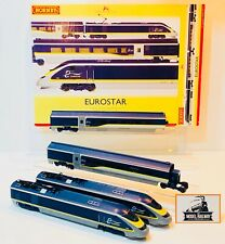 HORNBY 00 GAUGE - R3215 - EUROSTAR (NEW LIVERY) 4 CAR EMU POWER/DUMMY/COACHES!