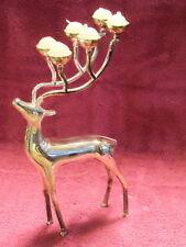Godinger Silver Plated Christmas Reindeer Candelabra Candle Holder Very Nice