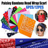 """US! Large Paisley Bandanas Pack of 6/12 100% COTTON Mix Color Non Fading 22""""x22"""""""