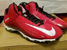 Nike Alpha Shark 2 3/4 Football Cleats Red White Men's Size 11