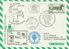 1973 Austria cover special baloon post Vocklabruck (flight by DE-DZC Raiffeisen)
