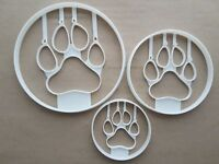 Cat Paw Print Feline Shape Cookie Cutter Dough Biscuit Pastry Fondant Sharp