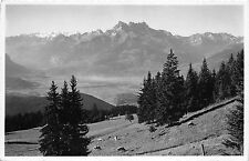 BR18442 Les Dents du midi et la plaine du Rhone vus de leysin switzerland