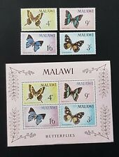 Malawi Butterflies SG247 - 250 & MS251 - Mini Sheet and Set MNH