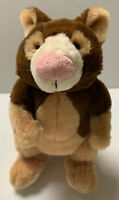 "Tree Kangaroo HM362 Webkinz No code Ganz 9"" Plush Stuffed Lovey Toy Brown"