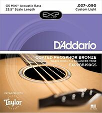 D'Addario Phosphor Bronze Coated Acoustic Bass Strings, Taylor GS Mini Scale