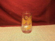 """Libbey Crystal Gold Leaves Pattern High Ball Glass Tumber 5"""""""