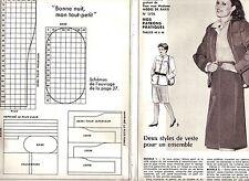 PATRON DE COUTURE 2 styles de veste pour un ensemble  taille 44 à 48