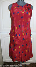 Giorgio Fiorlini Two Piece Polyester Dress Sz M VGC