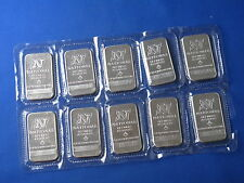 National Refiners 1 Oz Silver Bars Lot Of 10 New Consecutively Numbered B5479