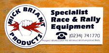 Mick BRIANT prodotti specializzati Race Rally Motorsport attrezzature Adesivo / Decalcomania