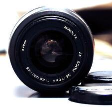 MINOLTA AF Zoom 35-70mm 1:3.5-4.5 (22) AF objectif lens sony minolta alpha