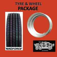 11R22.5  Trailer Tyre and Silver MESH Demountable / 10-285 or 10-335 Wheel