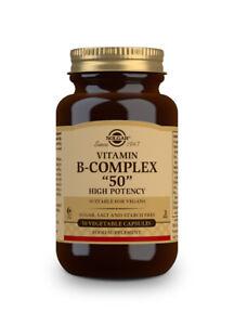 "Solgar Formula Vitamin B  ""50"" Complex 50 Vegetable Capsules  High Potency"